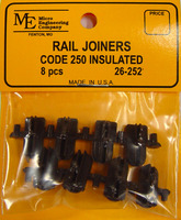 Insulated Code 250 Rail Joiner (8pcs)